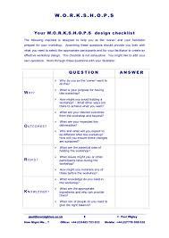 Effective Workshop Design Designing A Workshop Here Is A Checklist