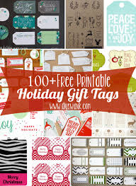 Gift Tag Design Ideas Free Printable Holiday Gift Tags