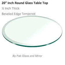 beveled glass table top
