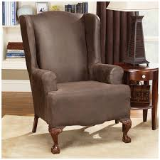 Slipcovers Living Room Chairs Nice Brown Ikea Wing Chair Covers That Can Be Decor With Cream