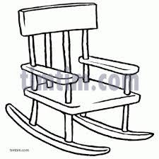 Rocking Chair Drawing Easy penaime