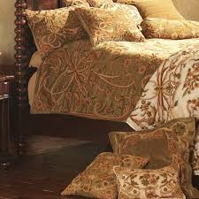 crewel bedding art nouveau chocolate