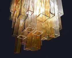 four color glass flush mount ceiling