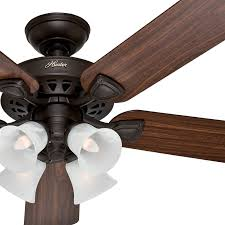 new hunter ceiling fan light kit 52 traditional bronze finish with 4 bulb re content global