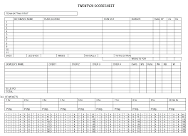Cricket Score Card Format Cricket Scorecard Template Statepension Info