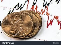 Stock Market Chart Three One Us Stock Photo Edit Now