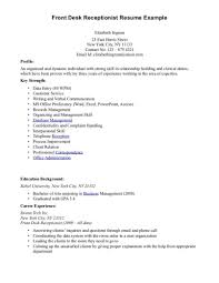 Sample Cover Letter For Front Desk Receptionist With No Experience