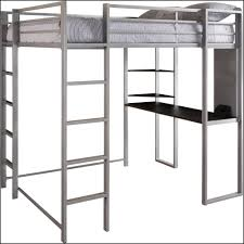 bedroom dhp abode silver full size loft bed with black desk and shelves full size