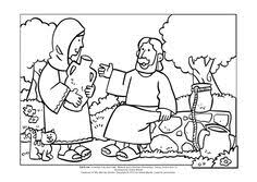Small Picture Woman At The Well Coloring Pages FunyColoring