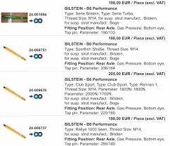 Understanding Bilstein Shock Range Pelican Parts Forums