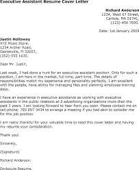 Cover Letter Sample For Executive Secretary Viactu Com