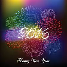 happy new year 2016 with fireworks. Unique New Happy New Year Fireworks 2016 Holiday Background Design  Stock Vector  Colourbox In New Year With Fireworks