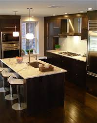 kitchens with dark brown cabinets. Contemporary Kitchens With Dark Cabinets Kitchen Eat In Floor Range Hood Brown