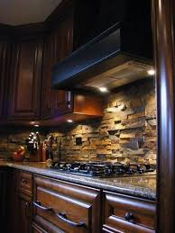 Stone Backsplash. Love! And With The Dark Cabinets?! Perfection!  Pinterest a