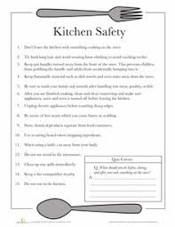 Small Picture Kitchen Safety Worksheets Free printable and Safety