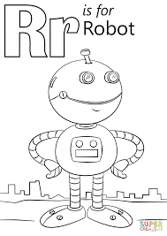 Small Picture Letter R is for Robot coloring page Free Printable Coloring Pages