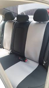 2016 honda accord sport rear black silver neosupreme seat covers a separate center armrest cover is provided to allow for full movement and usage of cup