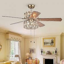ceiling fan chandelier light luxury warehouse of tiffany gaspar 52 inch 5 blade modern ceiling fan