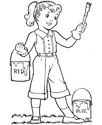 Small Picture Coloring Page Of A Girl Girls Coloring Pages And Sheets Can Be