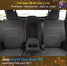 custom fit waterproof neoprene jeep grand cherokee full back rear seat covers