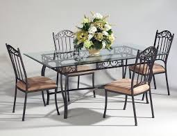 contemporary metal furniture. Astonishing Design Of Th Emetal Dining Table With Black Metal Frameworks Ideas Added Beige Chairs Contemporary Furniture