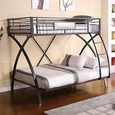 chrome bedroom furniture.  Furniture Furniture Of America Apollo ChromeDark Gray Twin Over Full Bunk Bed And Chrome Bedroom Furniture