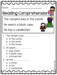 You can have the kids read the sentences by themselves (reading comprehension) or you can read the. 5 English Grammar Worksheets Reading Comprehension October Reading Prehension In 2020 Reading Comprehension Reading Worksheets Reading Comprehension Worksheets