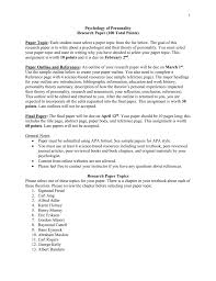 Apa 6 Sample Paper Theories Of Personality Research Paper