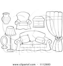 couch clipart black and white. pin lamp clipart couch #6 black and white