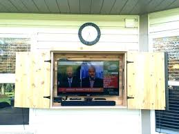 Outdoor Tv Cabinet Ideas Best Weatherproof Enclosure On Consoles Stand Outside  Diy