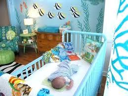 under the sea nursery ocean baby underwater themed crib bedding room ideas decorations seahorse coastal bedroom