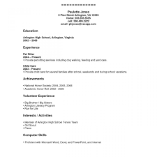 Resume Templates For Students In High School Resume Examples For Highschool Students With Little Experience 22