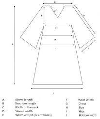 Size Guide Chart Ba Pardah The Abaya World