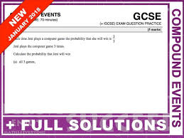 gcse 9 1 exam question practice compound prolity by maths4everyone teaching resources tes