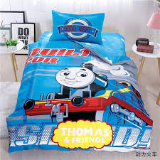 cartoon thomas and his friends bedding sets 100 cotton 3 4pc twin queen sizes children kids thomas and friends