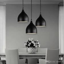restaurant lamps aluminum tulip pendant lighting lamps a bag nordic classic combination meals chandeliers e27 three single head chandelier lantern pendant