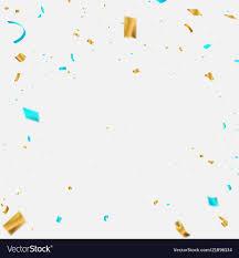 Celebration Background Template With Confetti