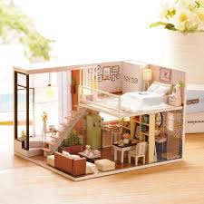 doll house furniture sets. Wholesale New Furniture Diy Doll House Wooden Miniature Houses Dust Cover Kit Box Puzzle Assemble Dollhouse Toys For Gift Girl Sets R
