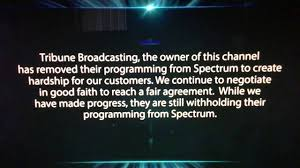 charter spectrum update about tribune blackout january 7 11 2019