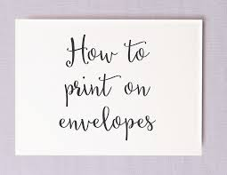 Save Money On Calligraphy By Printing Your Own Wedding Envelopes