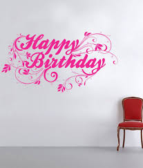 happy birthday design impression wall happy birthday design wall sticker buy