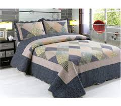 King Size Patchwork Quilt | eBay & Patchwork Quilted Comfy Bedspread Bedding Set Embroidered Throw Double King  Size Adamdwight.com
