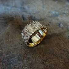 Bark Design Wedding Ring The Bark Ring A Richly Textured Bark Inspired Gold Ring