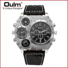 online buy whole oversized watches men from oversized oulm quartz wrist watch 1349 personalized oversized case thermometer compass dual quartz movements wrist men watch