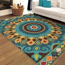 blue and brown rug indoor outdoor multi area rug is an uncommon design it uses dark