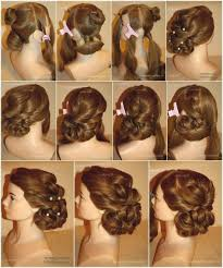 Hairstyles Easy Updos For Medium Hair Step By Step Delightful