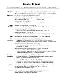 Internship Resume Templates 70 Images Resume Format For
