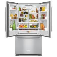 Kitchen Aid French Door Kitchenaid 219 Cu Ft French Door Refrigerator In Stainless