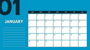 mothly calendar blue and pink monthly calendar templates by canva