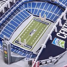 Seattle Seahawks Nfl 3d Model Pzlz Stadium Centurylink Field